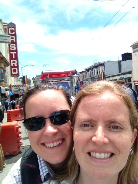 Meg and Marcy outside the well-known Castro Theatre in the Castro District of San Francisco