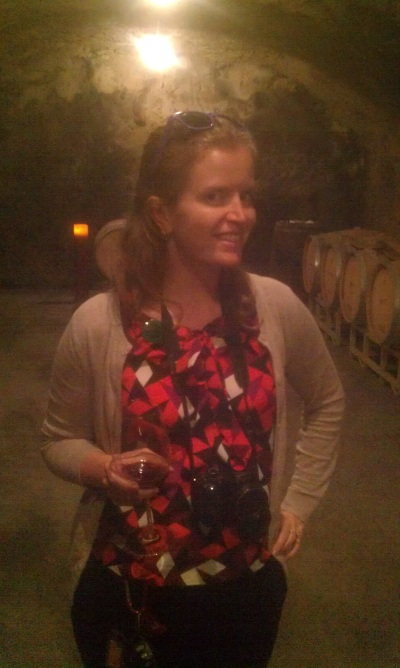 Meg during a winery tour at the Beringer Vineyards.