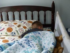 Sport sleeping with teddy bears