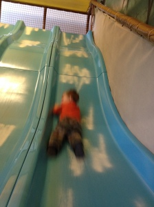 Sport on the indoor slide