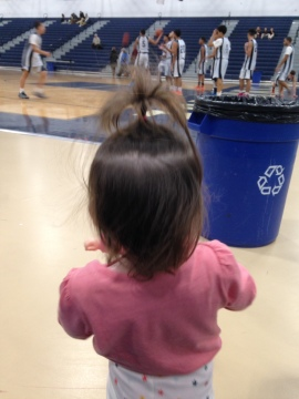 Cheering on Mommy's school