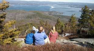 Lunch at the top of Mt. Major