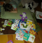 Sometimes it's hard to pick just one book before sleep.