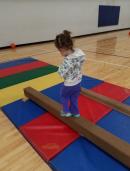 Gymnastics class.