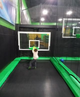 We discovered the fun of the indoor trampoline park.